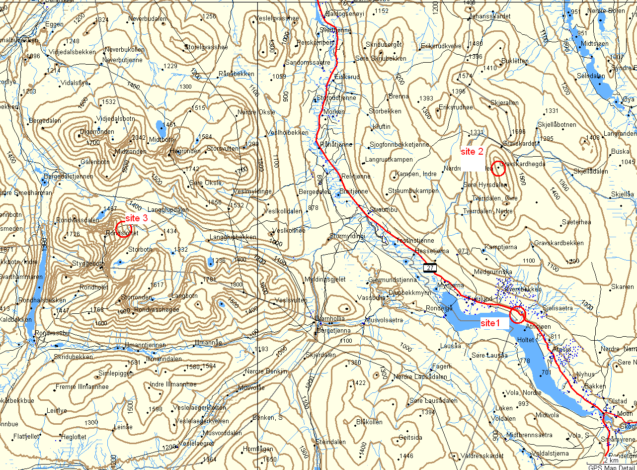 rondane kart Detailed map rondane kart